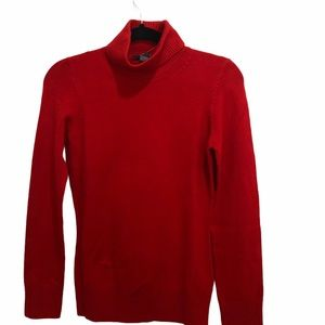 NEW French Connection Red Turtleneck Sm